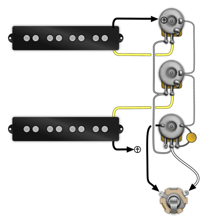 Prewired Jazz Bass Control Plate Install Instructions